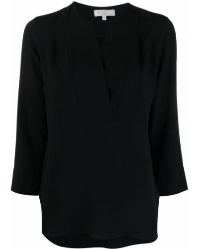 Черная шифоновая блузка Antonelli