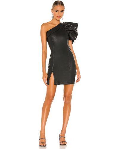 Кожаное платье - черное Elliatt