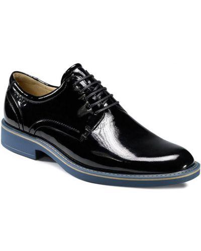 Кожаные туфли черные лаковые Ecco