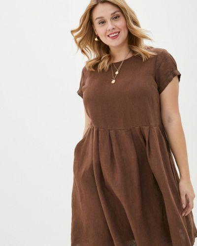 Повседневное коричневое повседневное платье Gabriela