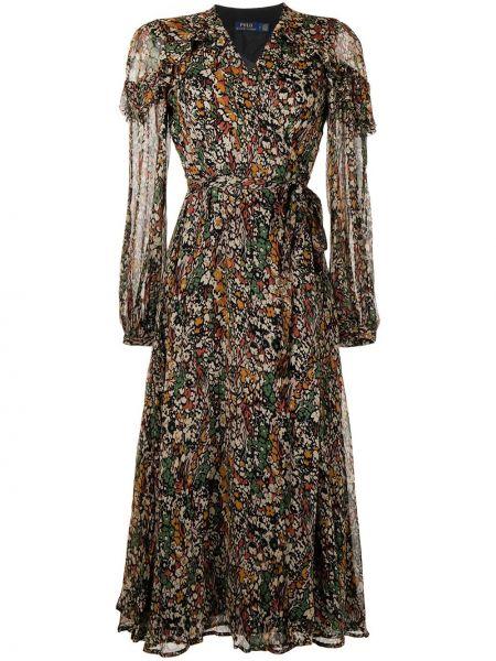 Платье миди на запах Polo Ralph Lauren