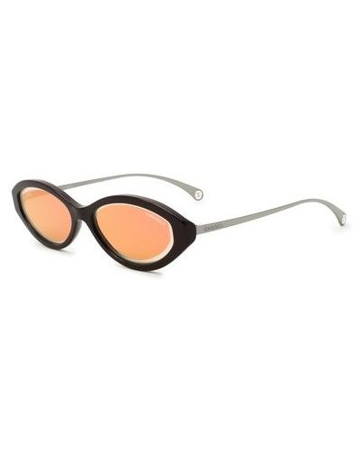 Комбинированные фиолетовые солнцезащитные очки Chanel