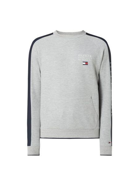 Bawełna bluzka z raglanowymi rękawami z dekoltem na paskach Tommy Hilfiger