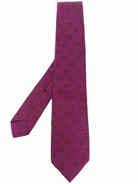 Krawat w kwiaty - różowy Barba