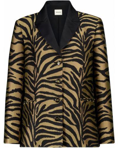 Черный пиджак из вискозы Khaite