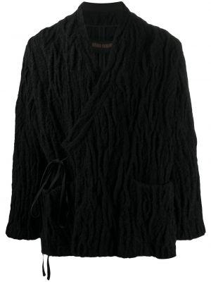С рукавами шерстяное полупальто с декоративной отделкой Uma Wang