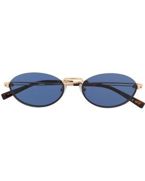 Муслиновые желтые солнцезащитные очки Max Mara