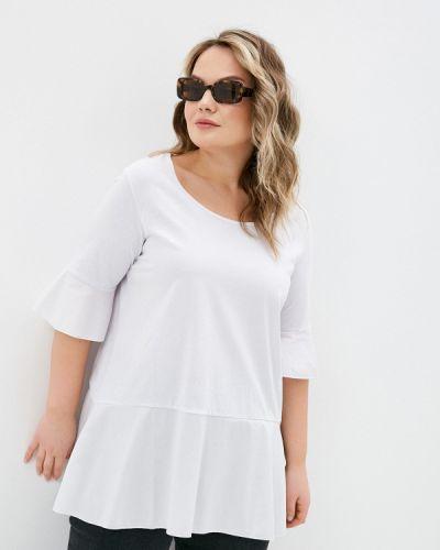 Белая блузка с короткими рукавами Sophia
