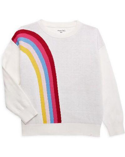 Biały długi sweter w paski bawełniany Sovereign Code