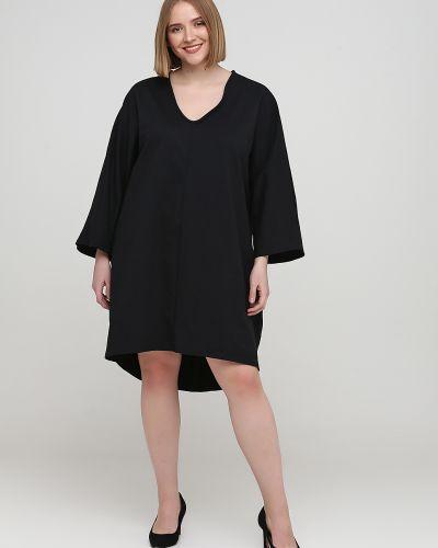 Свободное черное платье свободного кроя Makadamia