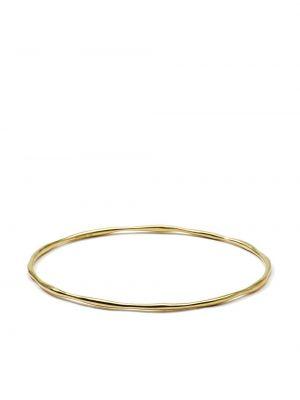 Золотистый золотой браслет золотой с декоративной отделкой Ippolita