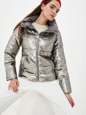Утепленная куртка - серебряная B.style