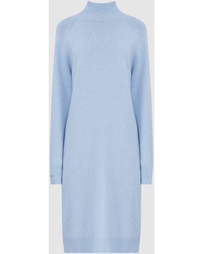 Шелковое платье миди - голубое Peserico
