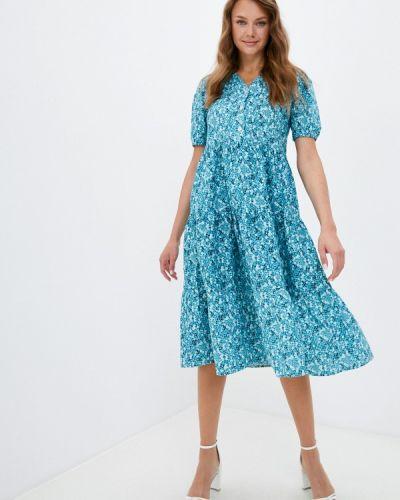 Бирюзовое платье а-силуэта Hey Look