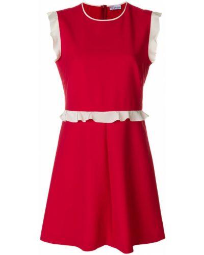 Платье мини с оборками из вискозы Red Valentino