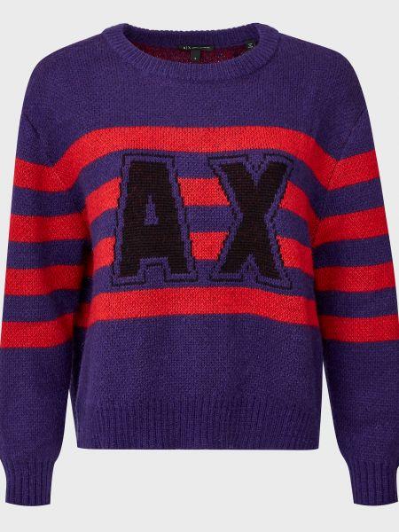 Шерстяной свитер - красный Armani Exchange