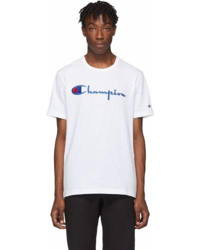 T-shirt bawełniana - biała Champion Reverse Weave