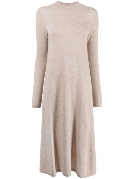 Sukienka midi - beżowa Enfold