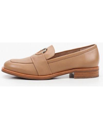 Коричневые кожаные туфли Basconi