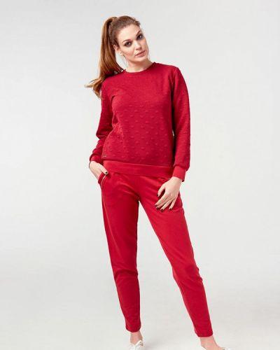 Спортивный костюм красный бордовый Ora