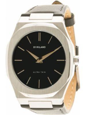 Кожаные часы - черные D1 Milano