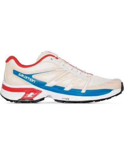 Спортивные белые нейлоновые кроссовки Salomon S/lab