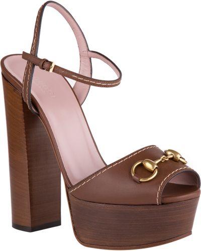 Босоножки на каблуке Gucci