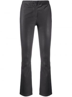 Кожаные серые брюки на пуговицах Arma
