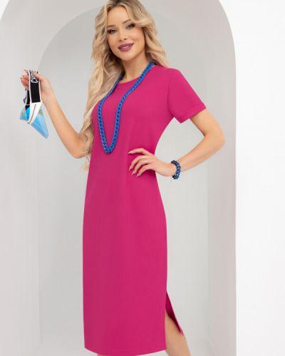 Повседневное прямое розовое платье миди Charutti