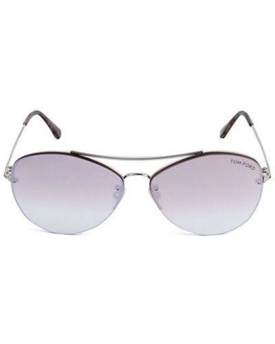 Фиолетовые солнцезащитные очки металлические Tom Ford