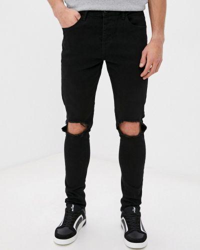 Зауженные черные джинсы-скинни Terance Kole