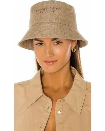 Хлопковая зеленая шапка винтажная Ruslan Baginskiy