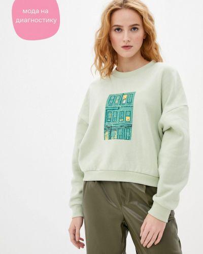 Зеленый свитшот Sela