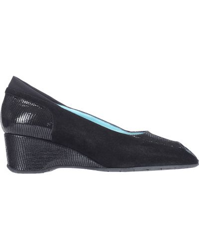 Туфли на каблуке замшевые кожаные Thierry Rabotin
