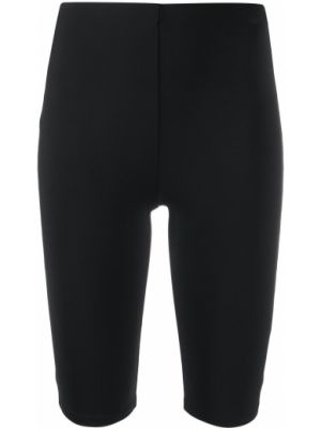 Облегающие черные шорты без застежки The Row