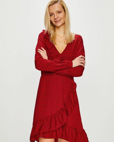Платье мини с V-образным вырезом с оборками Answear