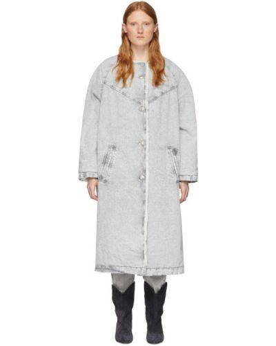 Джинсовая куртка длинная серебряная Isabel Marant