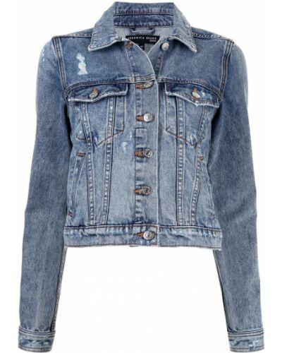 Хлопковая синяя джинсовая куртка с воротником Veronica Beard