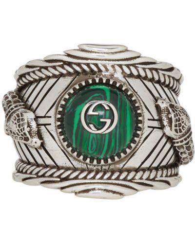 Pierścionek, zielony Gucci
