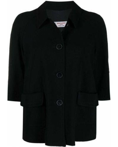Черный пиджак с короткими рукавами с воротником Alberto Biani