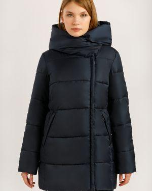 Утепленная куртка с перьями синий Finn Flare