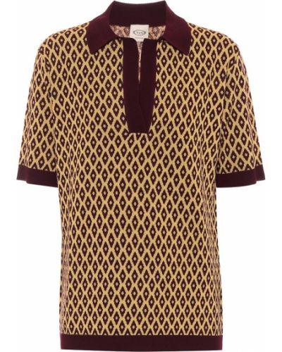 Шерстяной горчичный свитер винтажный Tod's