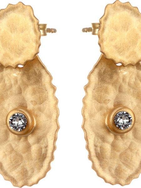 Серебряные серьги золотые позолоченные Madde