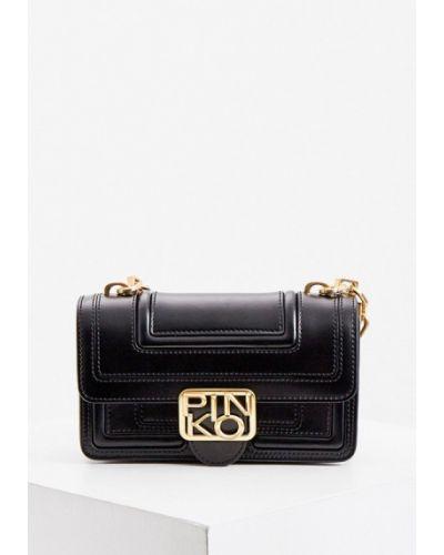 Черная кожаная сумка Pinko