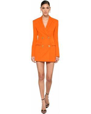 Восточное платье мини двубортное из габардина Versace