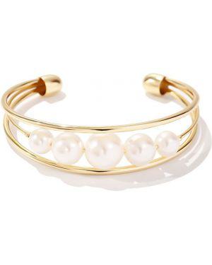 Золотой браслет позолоченный с жемчугом Exclaim