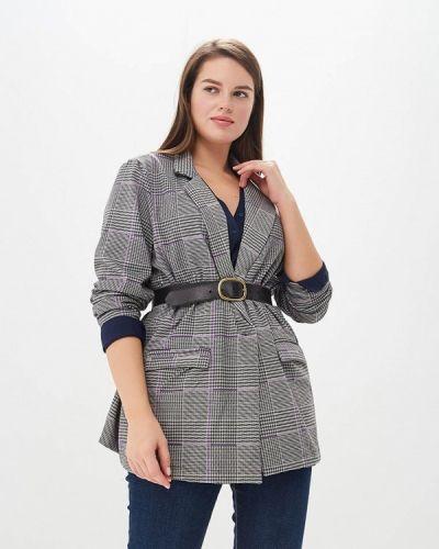 Серый пиджак осенний Junarose