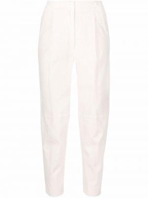 Белые брюки из спандекса Antonelli