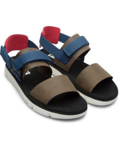 Czarne sandały skorzane na rzepy Camper