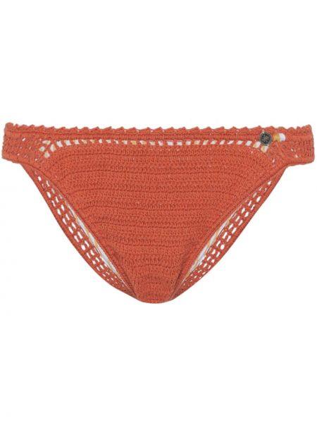 Оранжевые нейлоновые бикини с подвесками She Made Me